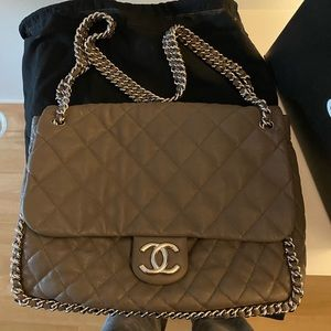 Chanel Double Chain Around Bag with ALL packaging!